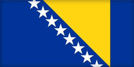 political system: La bandera de Bosnia y del herzegovina. (proporciones originales y oficiales).