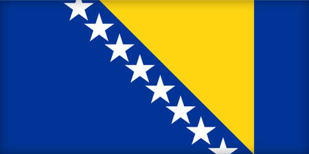 political system: The flag of Bosnia and Herzegovina. (Original and official proportions).