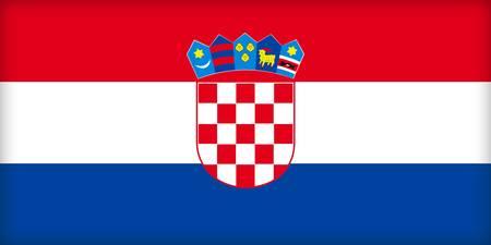political system: La bandera de Croacia. (Original y oficial de proporciones).