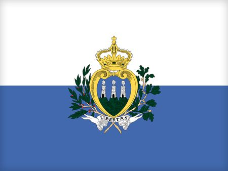 political system: The flag of San Marino. (Original and official proportions). Stock Photo