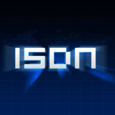 isdn: ISDN type on abstract background.