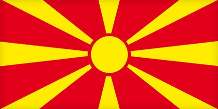 political system: The flag of Macedonia. (Original and official proportions).