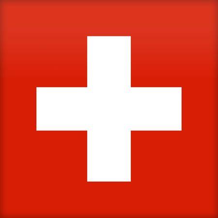 political system: La bandera de Suiza. (Original y oficial proporciones).  Foto de archivo