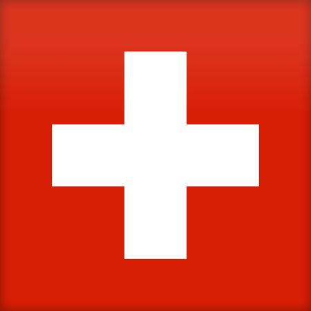 proportions: The flag of Switzerland. (Original and official proportions). Stock Photo