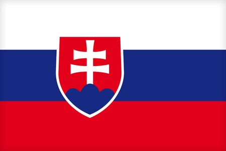 political system: The flag of Slovakia. (Original and official proportions).