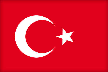 political system: The flag of Turkey. (Original and official proportions). Stock Photo