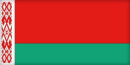 political system: La bandera de Bielorrusia. (Original y oficial proporciones).  Foto de archivo