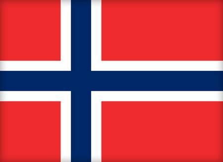 political system: La bandera de Noruega. (Original y oficial de proporciones).  Foto de archivo
