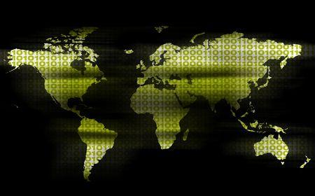 transpozycji: Binarny świat Green Zdjęcie Seryjne