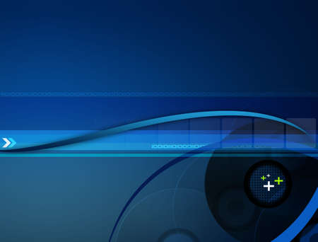 compact disc: Stylish blue gradient background with different elements.