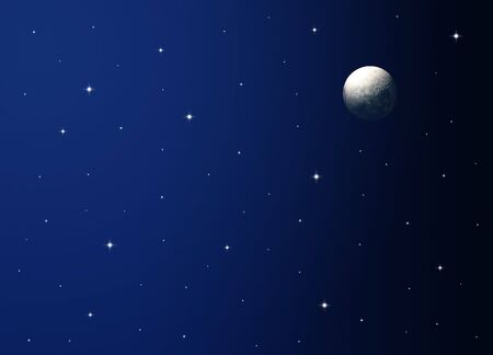 moon and stars: Night Sky Stock Photo
