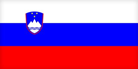The flag of Slovenia. (Original and official proportions). Stock Photo