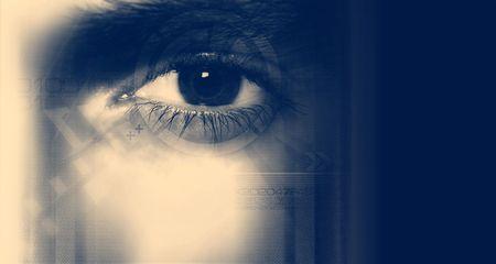 Digital Eye - Internet security concept. Stok Fotoğraf