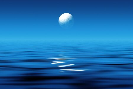 Moonlight at sea
