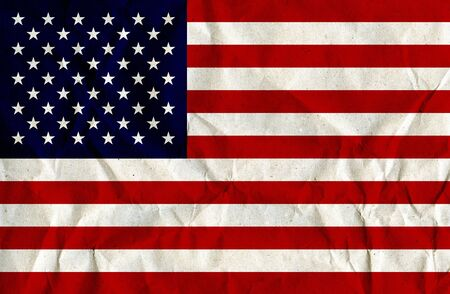 Paper Textured US-Flag