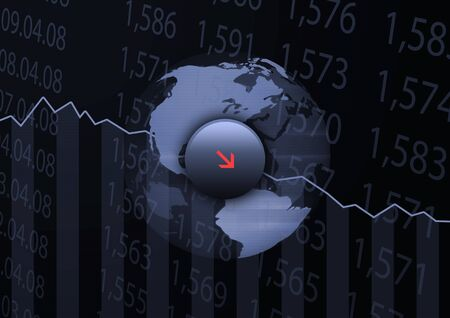 Exchange Loss - Abstract and conceptual stock market collage. Check the alternative version  Stock Photo