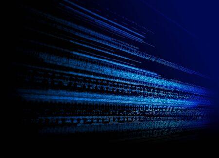 hightech: Binary Tech Background