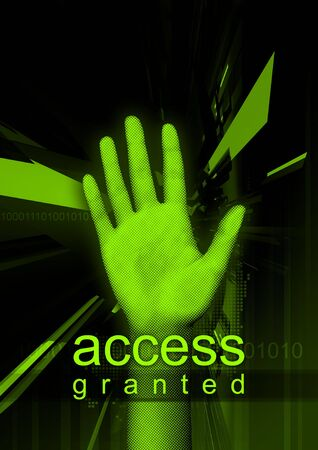 access granted: Access Granted - Abstract and modern illustration about cyber security.