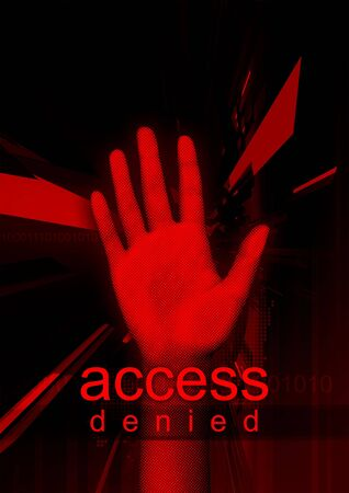 Access Denied - Abstract and modern illustration about cyber security.