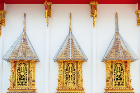 engraver: Golden windows in thai temple