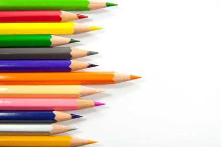 wean: Pastel on white background Stock Photo