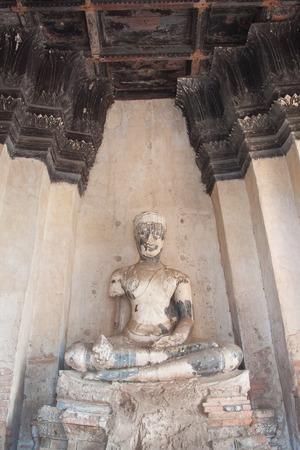 tabernacle: Ancient buddha at ayutthaya thailand
