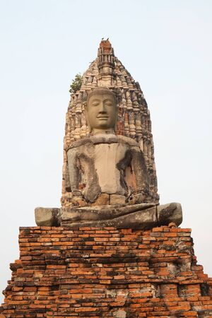 tabernacle: Ancient buddha at ayutthaya thailand