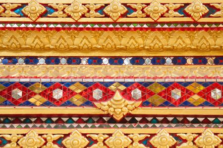 tabernacle: Variety colorful of the stucco temple wall Stock Photo