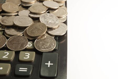 numerate: The background of the coin on the calculator