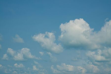 cerulean: The background of blue sky with white cloud Stock Photo