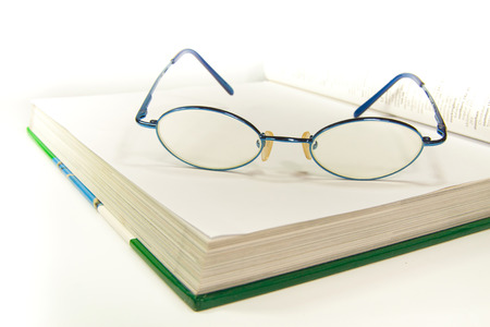 treatise: The eyeglass palce on the white book