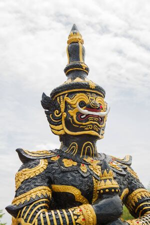 tabernacle: The black giant statue in the thai temple