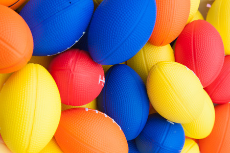 The colorful of the rubber american football background