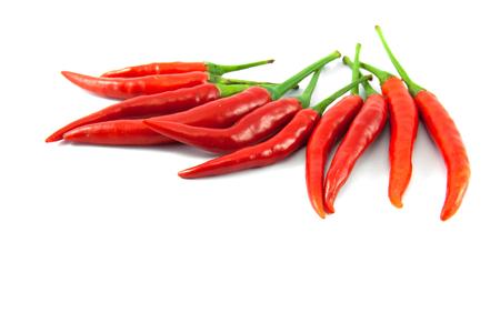 Le piment rouge sur le fond blanc