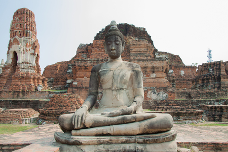 Body of ancient buddha statue at thailand