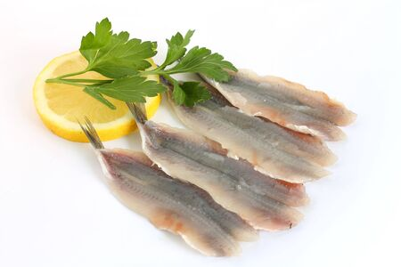 anchovy fillets wih lemon and parsley photo