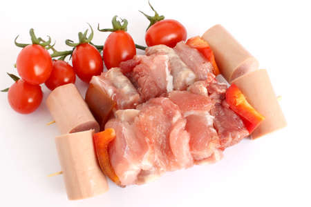 skewers with tomatoes Stock Photo - 13129651