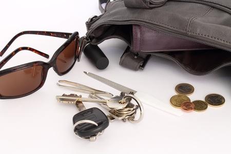 objects inside a woman s bag