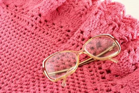 grandma s shawl and glasses photo