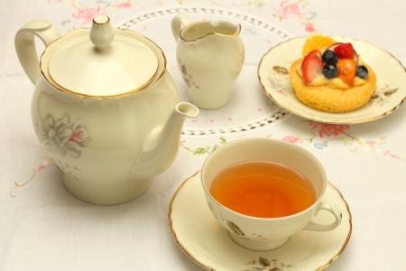 tea time: tea time Stock Photo