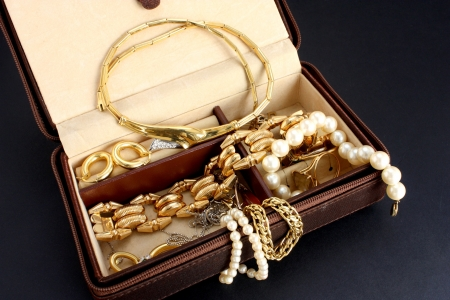 jewelry box with jewelery