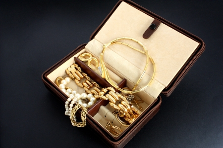 jewelry box with jewelery photo