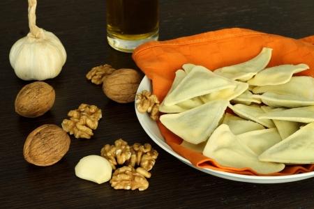 Ingredients for walnut sauce