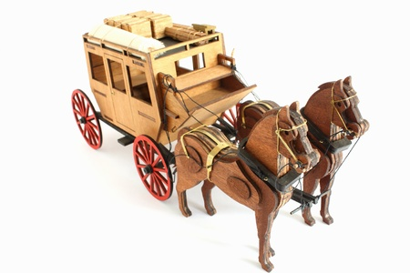 Model of old carriage Stock Photo