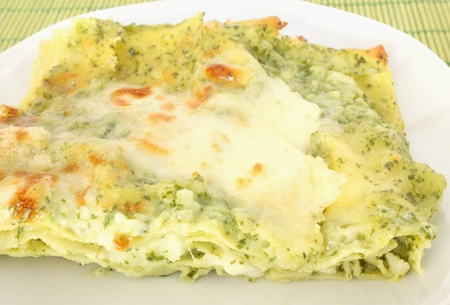 Lasagne with pesto sauce