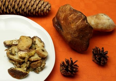 sauteed: Sauteed boletus mushrooms