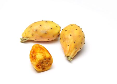 Prickly pears on white background Stock Photo - 15886711