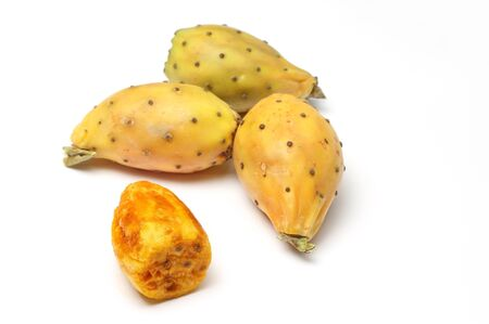 Prickly pears on white background Stock Photo - 15886717