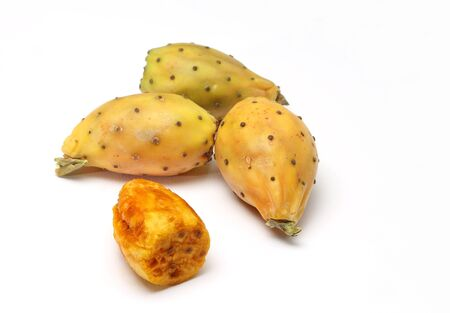 Prickly pears on white background Stock Photo - 15886724