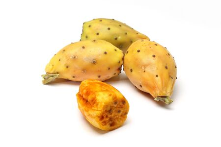Prickly pears on white background Stock Photo - 15886721